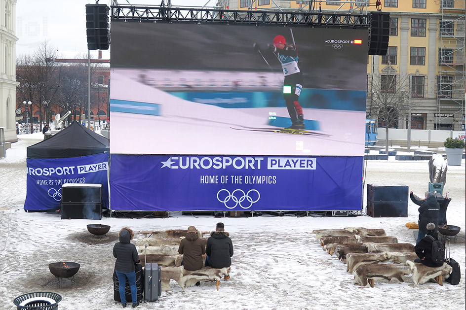 Public Viewing Olympia 2018, sponsored by Eurosport