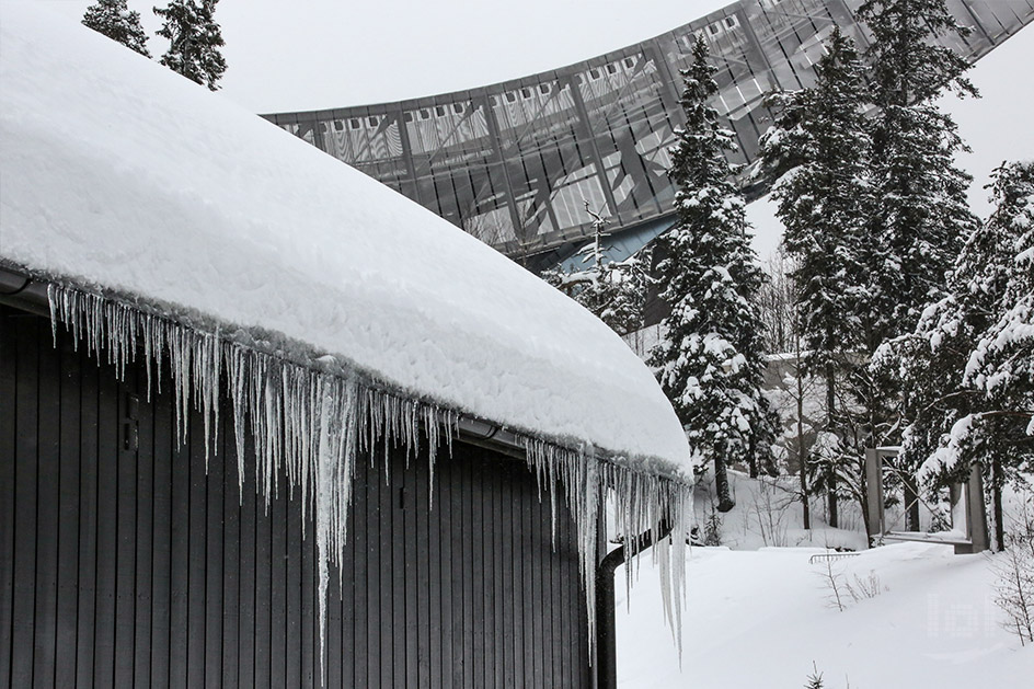 Winter am Holmenkollen in Oslo