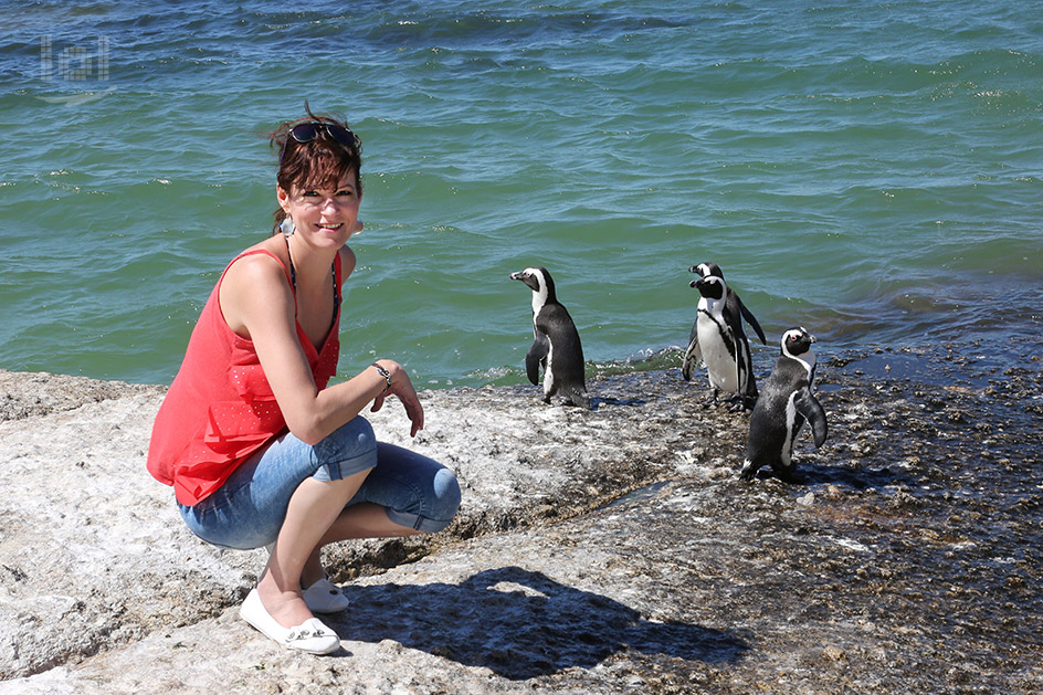 Penguins and me on the Cape Point